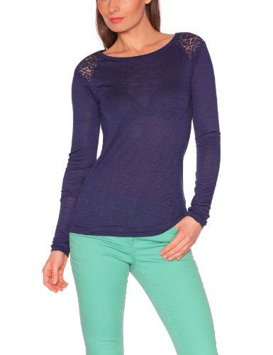 Best Mountain - T-shirt, Donna, Blu (Bleu (Marine)), S (1 FR)