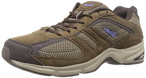 AVIA Women's Volante Country Walking Shoe,Shitake Brown/Espresso Brown/Violet Blaze/Stone Taupe,8.5 D US (Avis Shoes compare prices)