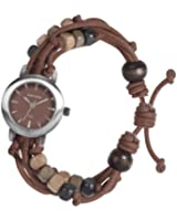 Kahuna Women's Quartz Watch with Brown Dial Analogue Display and Brown Plastic or PU Strap KLF-0011L