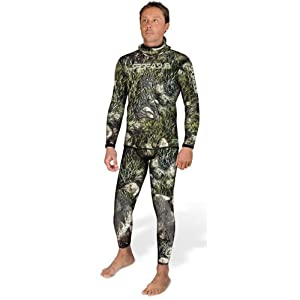 Sporasub 5mm Sea Green Mens Spearfishing Camo Suit 2 Piece Wetsuit - Top & Bottom... by SPORASUB
