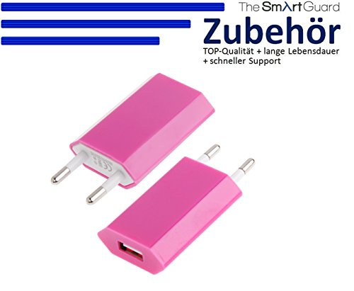 Original THESMARTGUARD® Samsung Galaxy S6 Netzteil Adapter Ladegerät in pink - NEU mit überarbeiteter Ladegeschwindigkeit von bis zu 2.1A!