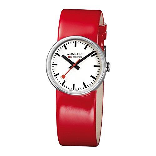 Mondaine Basics Evo Women's Watch Analogue Quartz Leather Red A658.30306.16SBP