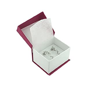 Hot-Pink and White Earring Box (Jewelry Not Included)