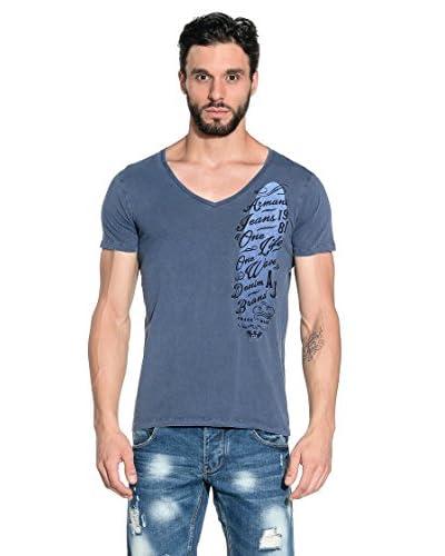 Armani Jeans T-Shirt Manica Corta A6H37-Zv 5V [Blu]