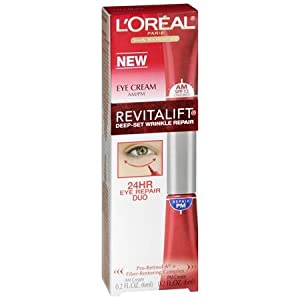 L'Oreal Paris RevitaLift Deep-Set Wrinkle Repair 24-Hour Eye Duo, 0.2-Fluid Ounce