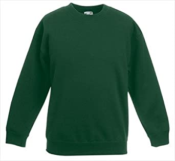 Fruit of the Loom - Kinder Sweatshirt 'Kids Set-in Sweat' 104,Bottle Green