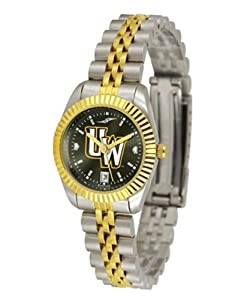 University of Wyoming Cowboys Ladies Gold Dress Watch by SunTime