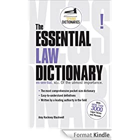 The Essential Law Dictionary (Sphinx Dictionaries)