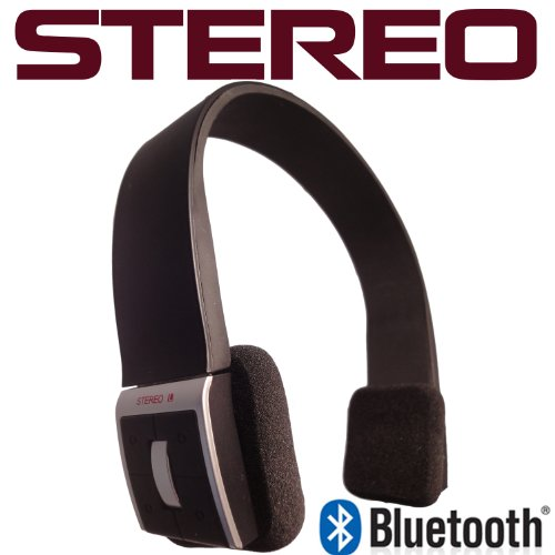 Blue Magic Stereo Wireless Bluetooth Headset with built-in Mic for All iPhone Models including iPad and iPod Blue Magic Bluetooth Headsets autotags B005NH8HVY
