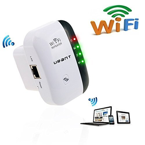Urant Wireless Wifi Repeater Long Range Extender Amplifier 2.4GHz Network Adapter Wireless-N Mini AP Access Point Dongle IEEE802.11N/G/B Mini AP Router Signal Booster(300M-New Chip) (Long Range Wireless Ap compare prices)