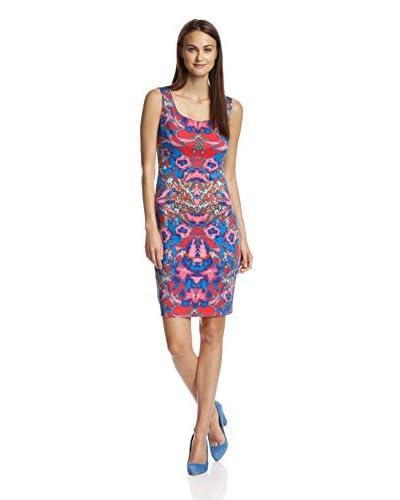 Sangria Women's Printed Sheath Dress  [Cherry/Multi]