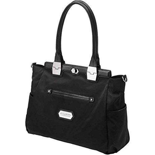 Petunia Pickle Bottom Cake Cafe Carryall In Black Chai Tea Cake front-831586
