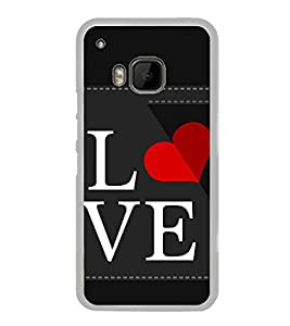 Love 2D Hard Polycarbonate Designer Back Case Cover for HTC One M9 :: HTC One M9S :: HTC M9 :: HTC One Hima