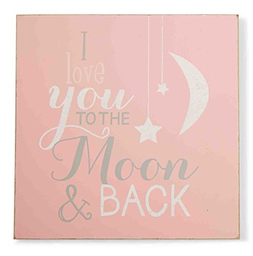 Mud Pie Plaque, To The Moon, Pink