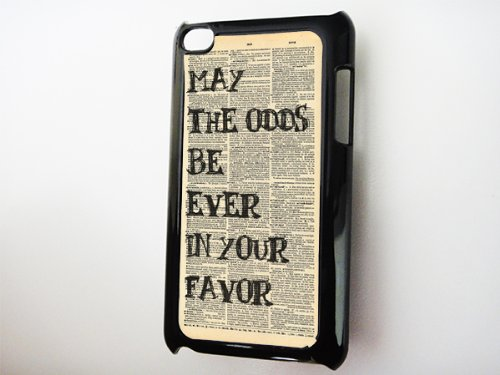 Black Ipod 4G Case --- Hunger Games Odds in Your Favor