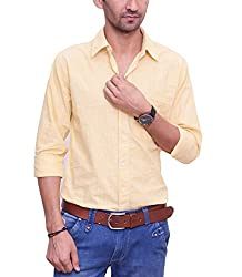 Ballard Men's Casual Shirt (BCS0015_Yellow_42)