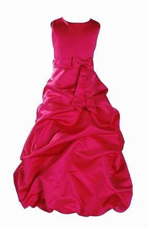 Robe demoiselle d'honneur Fuschia 1-2 Ans