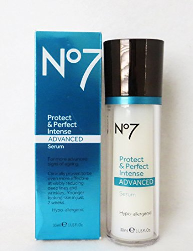 Boots No7 Protect & Perfect Intense Advanced Anti Aging Serum Bottle - 1 oz
