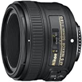 Nikon AF-S 50mm F1.8 G - Objetivo para Nikon (distancia focal fija 50mm, apertura f/1.8) color negro