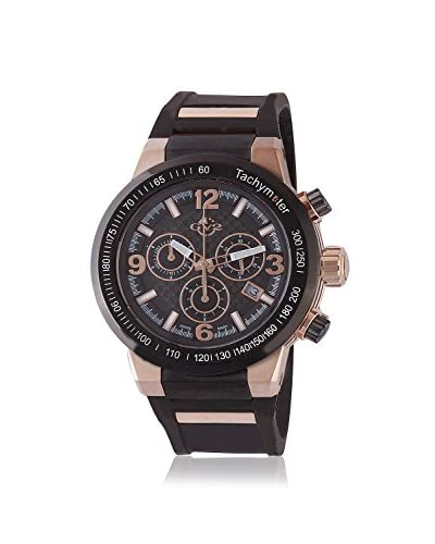 GV2 Men's 8200 Novara Black/Black Silicone Watch