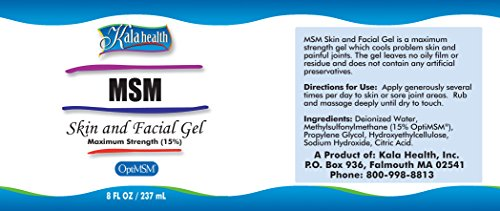 Facial gel with msm