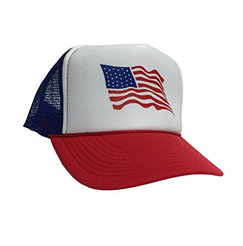[P&B UNITED STATES U.S. FLAG Campaign Adjustable Adult Unisex Hat Cap (ROYAL/WHITE/RED)] (Hats 4 U)