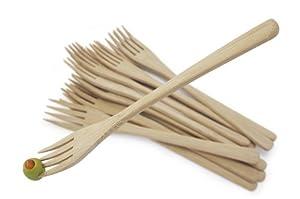 Natural Living 8 Inch Bamboo Forks, 12-PK