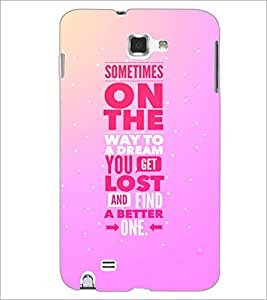 PrintDhaba Quote D-4408 Back Case Cover for SAMSUNG GALAXY NOTE 1 (Multi-Coloured)