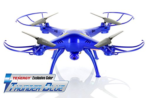 *Tenergy Exclusive* Syma X5SC 2.4G Headless RTF Quadcopter with 2MP 720P HD Camera - Thunder Blue Color Deluxe Package w/ Extra battery (more fly time) & accessories - 41QjFL797ML - *Tenergy Exclusive* Syma X5SC 2.4G Headless RTF Quadcopter with 2MP 720P HD Camera – Thunder Blue Color Deluxe Package w/ Extra battery (more fly time) & accessories