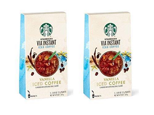 Starbucks VIA Instant Vanilla Iced Coffee - 2 Pack (Iced Via Coffee Starbucks compare prices)