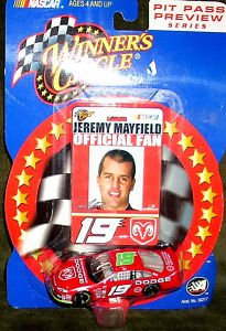 WINNER'S CIRCLE Nascar 2002 Jeremy Mayfield PIT PASS
