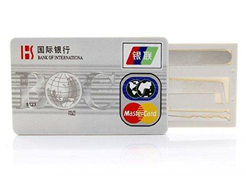 Gadget-Depot Credit Card Lock Picking Pocket / Wallet Kit 5-In-1 Set
