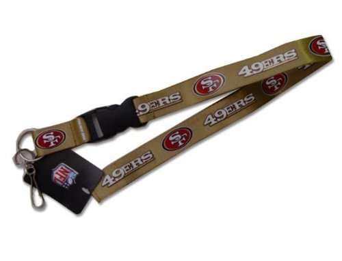 San Francisco 49ERS VELCRO Clip Lanyard Keychain Id Ticket at Amazon.com