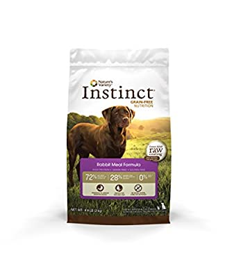 Instinct Grain-Free Rabbit Meal Dry Dog Food by Nature's Variety 4.4 lb Bag