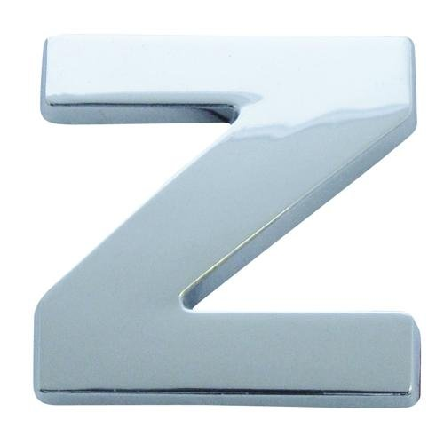 Chrome Look Letter Z Car Badge/ Decal - Self Adhesive