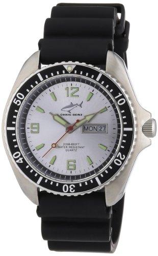 Chris Benz Men's Quartz Watch CBO.SI.KB.SW with Rubber Strap