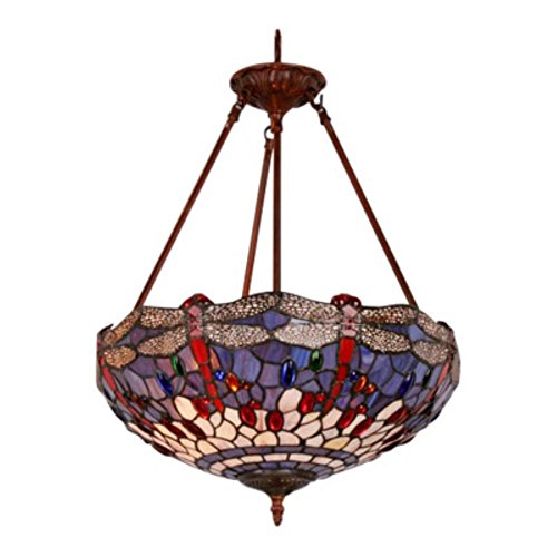 Ideal Tiffany style Hanging Dragonfly Lamp