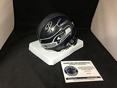 Russell Wilson Autographed Signed Seattle Seahawks Mini Helmet With Custom Decals On Back COA & Hologram