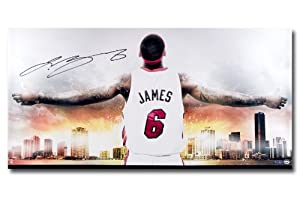 Upper Deck UDA Lebron James Autographed Miami Heat Witness Miami Ii 36x18 Photo -... by Upper Deck