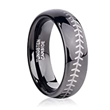 buy Tusen Jewelry Sports-Symbology Baseball Tungsten Ring For Your Mlb Season 6Mm Size 7-13