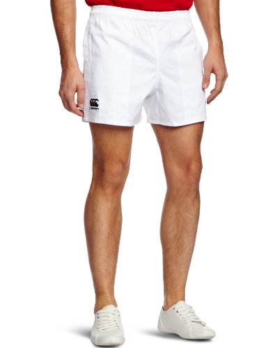 Canterbury Men's Professional Cotton Rugby Short - White, 32 Inch