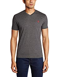 U.S. Polo Assn. Men's V Neck Cotton T-Shirt (I031-031-P1-L Anthra Melange)