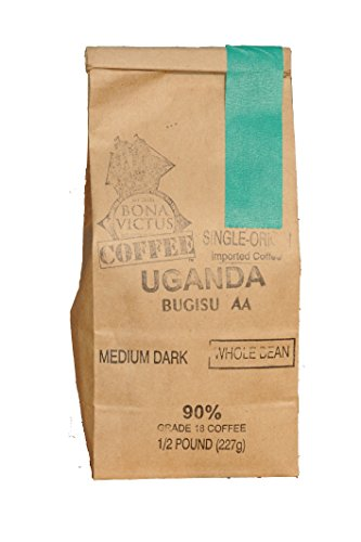 Coffee Bean Uganda Single Origin Bugisu Aa Whole Bean Medium Dark Roast 1 Lb