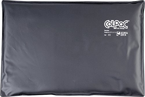 "Read About Chattanooga ColPac Cold Therapy, Black Polyurethane, Over-Size Cold Pack (12.5"" x 18..."