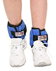 All Pro Weight Adjustable Ankle Weights, 10-lb pair (up to 5-lbs per ankle)