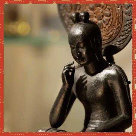 菩薩半跏像 イSム TanaCOCORO【 掌 】 ぼさつはんかぞう・仏像 フィギュア