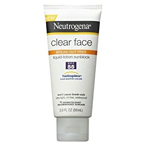 Neutrogena Clear Face Liquid Lotion Sunscreen SPF 55 - 3 Ounce