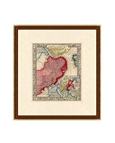 Map Antiquities Antique Map Of Boston, 1860, Multi