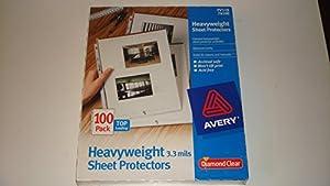 Amazon Com Avery Diamond Clear Heavyweight Sheet