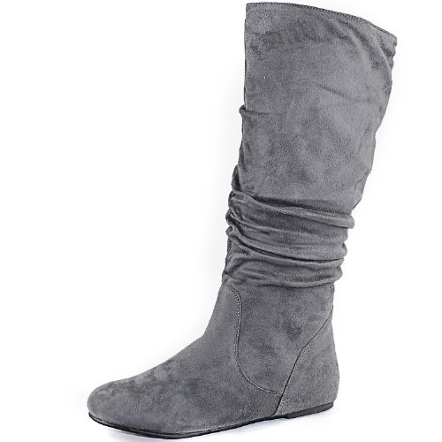 Top Moda Data-11 Round Toe Mid High Boots Picture